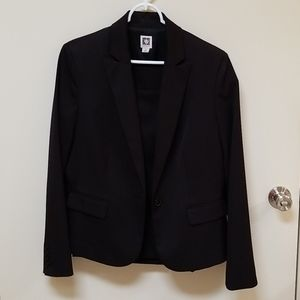 NWOT Anne Klein suit black with A line skirt
